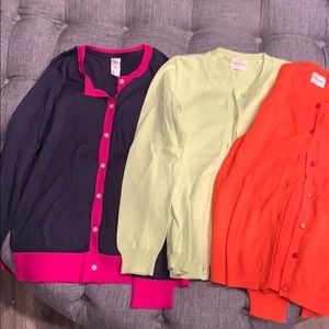 3 cardigans, never worn, crew cuts, size 10/12